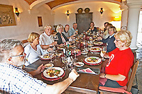 Lunch table. J Portugal Ramos Vinhos, Estremoz, Alentejo, Portugal