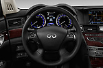 Car pictures of steering wheel view of a 2016 Infiniti Q70 Premium 4 Door Sedan Steering Wheel