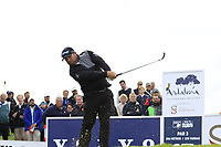 Justin Walters (RSA) tees off the 15th tee during Friday's storm delayed Round 2 of the Andalucia Valderrama Masters 2018 hosted by the Sergio Foundation, held at Real Golf de Valderrama, Sotogrande, San Roque, Spain. 19th October 2018.<br /> Picture: Eoin Clarke | Golffile<br /> <br /> <br /> All photos usage must carry mandatory copyright credit (&copy; Golffile | Eoin Clarke)