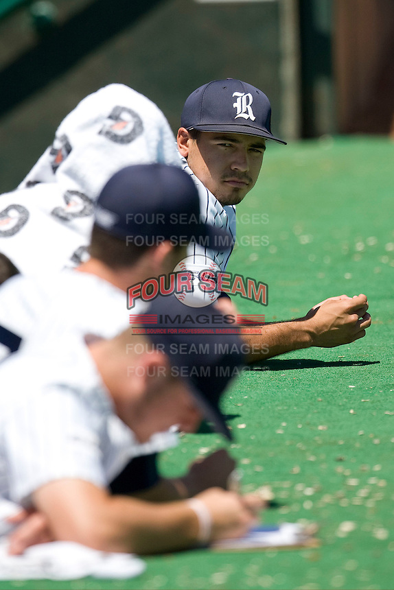 Rice Owls designated hitter Anthony Rendon #23 watches from the dugout against the Memphis TIgers in NCAA Conference USA baseball on May 14, 2011 at Reckling Park in Houston, Texas. (Photo by Andrew Woolley / Four Seam Images)