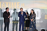 "Director Quentin Tarantino, actor Leonardo Dicaprio and producer Shannon McIntosh attend the Japan premiere for their movie ""Once Upon a Time in Hollywood"" in Tokyo, Japan on August 26, 2019.  The film will be released in Japan on August 30."