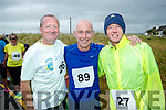 Tommy Mulane, Ray Darcy and Paul Nagle pictured at the Banna 10K run on Sunday morning.