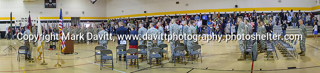 A Deployment Farewell Ceremony for the Iowa National Guard 361st Medical Logistics Company  was held Saturday at the Southeast Polk's Spring Creek Elementary gym. Eric Morrow, SEP's Junior Varsity wrestling coach, serves with the 361st. http://tinyurl.com/lfkjfrh