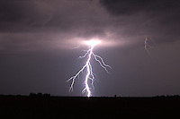 Lightning bolt at night in Kansas
