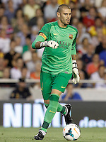 FC Barcelona's Victor Valdes during La Liga match.September 1,2013. (ALTERPHOTOS/Acero) <br /> Football Calcio 2013/2014<br /> La Liga Spagna<br /> Foto Alterphotos / Insidefoto <br /> ITALY ONLY