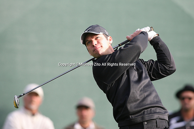 02/18/11 Pacific Palisades, CA: Paul Casey during the second round of the Northern Trust Open held at the Riviera Country Club.