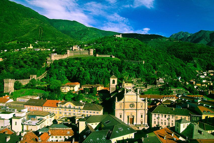 View from Castel Grande, Bellinzona, Ticino, Switzerland