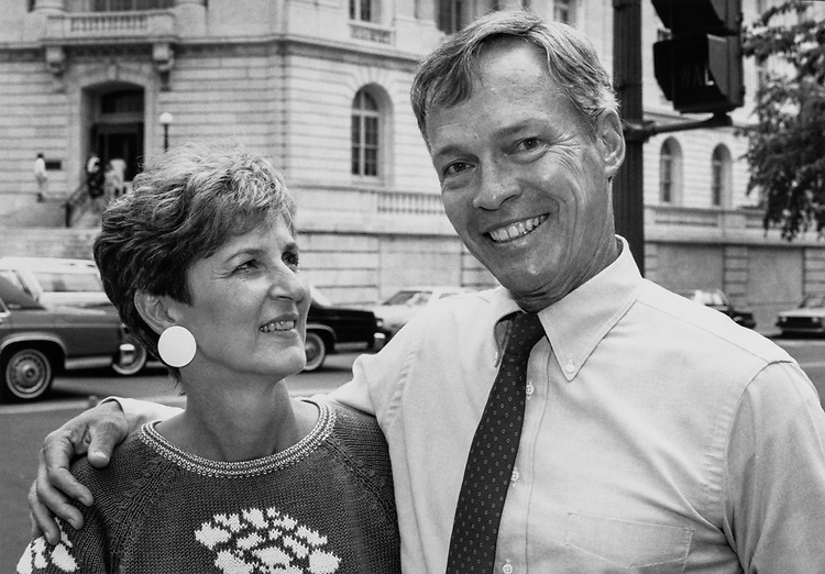Rep. Buddy MacKay, D-Fla. with wife Anne in 1983. (Photo by CQ Roll Call)