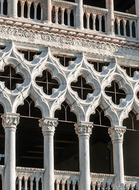 The facade of Ca d'Oro's (Palazzo Santa Sofia), Venice, Italy