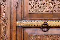 Afrique/Afrique du Nord/Maroc/Rabat : Hotel - Maison d'Hote Villa Mandarine détail decoration porte [Non destiné à un usage publicitaire - Not intended for an advertising use]
