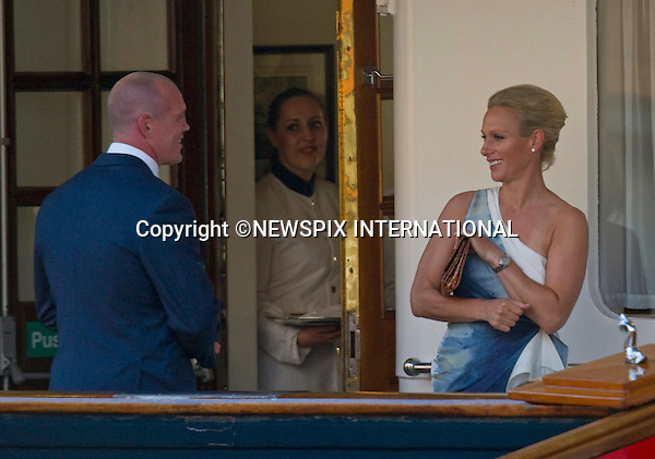 "ZARA PHILLIPS AND MIKE TINDALL.pre-Wedding Reception on HMY Britannia, Leith Wharf, Edinburgh, Scotland_29/07/201.Mandatory Credit Photo: ©Dias/NEWSPIX INTERNATIONAL..**ALL FEES PAYABLE TO: ""NEWSPIX INTERNATIONAL""**..IMMEDIATE CONFIRMATION OF USAGE REQUIRED:.Newspix International, 31 Chinnery Hill, Bishop's Stortford, ENGLAND CM23 3PS.Tel:+441279 324672  ; Fax: +441279656877.Mobile:  07775681153.e-mail: info@newspixinternational.co.uk"
