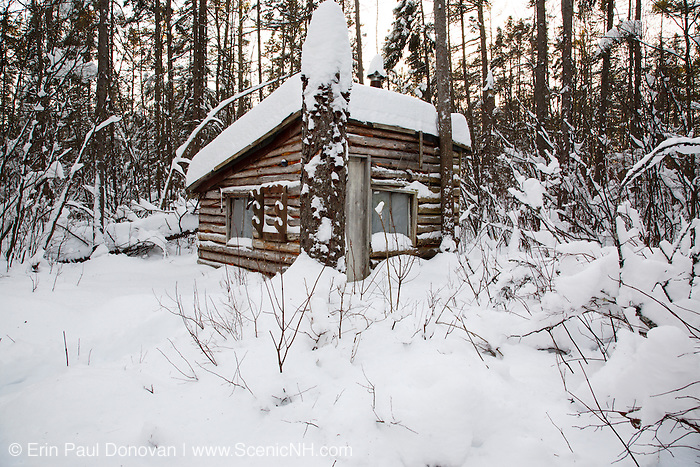 Hunting camp in Spuce Swamp during the winter months. Located in Fremont, New Hampshire USA