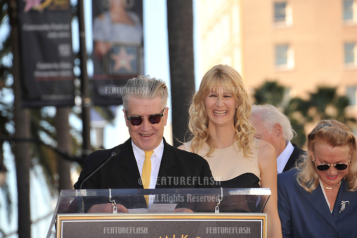 Laura Dern & David Lynch on Hollywood Boulevard where, together with her parents Bruce Dern & Diane Ladd, she was honored with a star on the Hollywood Walk of Fame. This was the first time in history that three stars from the same Hollywood family dynasty of actors was honored at the same time..The Hollywood Walk of Fame is celebrating its 50th anniversary this month..November 1, 2010  Los Angeles, CA.Picture: Paul Smith / Featureflash