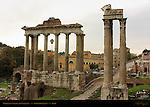 Temples of Saturn and Vespasian Forum Romanum Rome