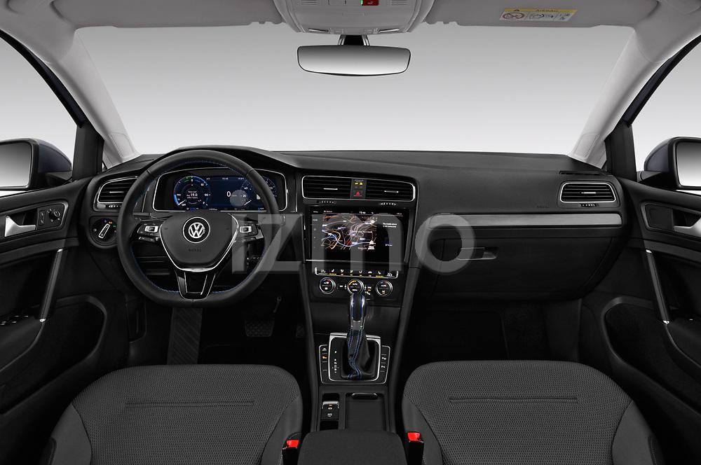 Stock photo of straight dashboard view of 2017 Volkswagen Golf e 5 Door Hatchback Dashboard