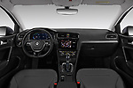 Stock photo of straight dashboard view of 2017 Volkswagen Golf e 5 Door Hatchback Dashboard