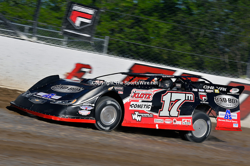 Jun 5, 2014; 5:49:11 PM; Rossburg, OH., USA; The 20th annual Dirt Late Model Dream XX in an expanded format for Eldora's $100,000-to-win race includes two nights of double features, 567 laps of action  Mandatory Credit:(thesportswire.net)