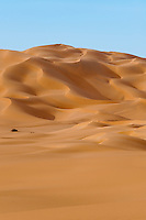 Dunes sculpted by the wind in the Ubari Desert in the Libyan Sahara