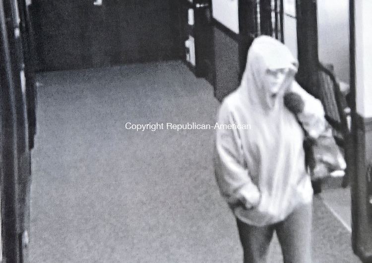 TORRINGTON, CT-17 NOVEMBER 2009-111709JS01-Torrington police released a security camera image of the female suspect in a robbery at the Northwest Community Bank on Winsted Road in Torrington on Tuesday. <br /> Jim Shannon Republican-American