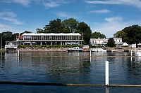 "Henley on Thames, United Kingdom, 23rd June 2018, Saturday,   ""Henley Women's Regatta"",  view, Phyllis Court Club, Henley Reach, River Thames, England, © Peter SPURRIER/Alamy Live News"
