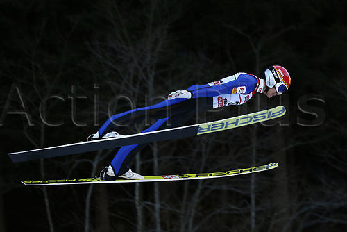 12th January 2018, Val di Fiemme, Fiemme Valley, Italy; FIS Nordic Combined World Cup, Mens Gundersen; Mario Seidl (AUT)
