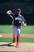 Reading Fightin Phils pitcher Zach Eflin (16) delivers a pitch during a game against the Bowie Baysox on July 22, 2015 at Prince George's Stadium in Bowie, Maryland.  Bowie defeated Reading 6-4.  (Mike Janes/Four Seam Images)