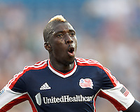 New England Revolution midfielder Saer Sene (39) celebrates goal. In a Major League Soccer (MLS) match, the New England Revolution tied the Seattle Sounders FC, 2-2, at Gillette Stadium on June 30, 2012.