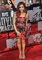Nicole 'Snooki' Polizzi at the 2014 MTV Movie Awards at the Nokia Theatre LA Live.<br /> April 13, 2014  Los Angeles, CA<br /> Picture: Paul Smith / Featureflash