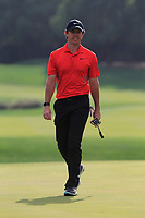 Rory McIlroy (NIR) on the 18th green during the 2nd round of the WGC HSBC Champions, Sheshan Golf Club, Shanghai, China. 01/11/2019.<br /> Picture Fran Caffrey / Golffile.ie<br /> <br /> All photo usage must carry mandatory copyright credit (© Golffile   Fran Caffrey)