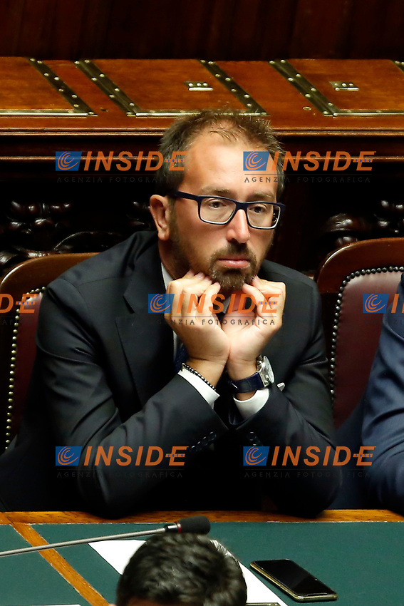 Minister of Justice Alfonso Bonafede<br /> Rome September 9th 2019. Lower Chamber. Programmatic speech of the new appointed Italian Premier at the Chamber of Deputies to explain the program of the yellow-red executive. After his speech the Chamber is called to the trust vote at the new Government. <br /> Foto  Samantha Zucchi Insidefoto