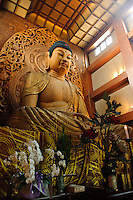 A giant Buddha at Tochoji, the first Shingon temple in Japan, Fukuoka city, Fukuoka prefecture, Japan, June 4, 2009.