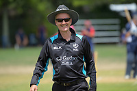 Umpire Billy Bowden during the Secondary School Boys' First XI Cup national cricket finals  at Fitzherbert Park in Palmerston North, New Zealand on Friday, 8 December 2017. Photo: Dave Lintott / lintottphoto.co.nz