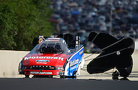 Jul, 21, 2012; Morrison, CO, USA: NHRA funny car driver Bob Tasca III during qualifying for the Mile High Nationals at Bandimere Speedway. Mandatory Credit: Mark J. Rebilas-US PRESSWIRE
