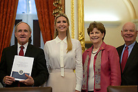 United States Senator Jim Risch (Republican of Idaho), First Daughter and Advisor to the President Ivanka Trump, United States Senator Jeanne Shaheen (Democrat of New Hampshire), and United States Senator Ben Cardin (Democrat of Maryland) attend a Women, Peace, and Security Roundtable with the U.S. Foreign Relations Committee at the U.S. Capitol in Washington D.C., U.S., on June 11, 2019.<br /> CAP/MPI/RS<br /> ©RS/MPI/Capital Pictures