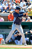 Tampa Bay Rays outfielder Matt Joyce #20 at bat during a Spring Training game against the Detroit Tigers at Joker Marchant Stadium on March 29, 2013 in Lakeland, Florida.  (Mike Janes/Four Seam Images)