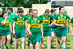 Kerry's Camogie player Patrice Diggin with the Kerry Team at the Kerry v Westmeath match at Abbeydorney GAA field on Sunday