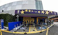 SAO PAULO, SP, 03 DEZEMBRO 2012 - PREMIACAO CRAQUE DO BRASILEIRAO 2012 - Fachada da casa de espetaculos HSBC Brasil onde acontece a Festa de Premiacao do Brasileirao 2012, nesta segunda-feira, 03. (FOTO: WILLIAM VOLCOV / BRAZIL PHOTO PRESS).