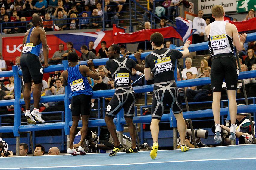 Photo: Richard Lane/Richard Lane Photography..Aviva Grand Prix. 21/02/2009. Runners in the men's 60m final.