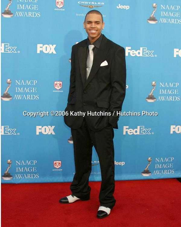 Chris Brown.37th NAACP Image Awards.Shrine Auditorium.Los Angeles, CA.February 25, 2006.©2006 Kathy Hutchins / Hutchins Photo....