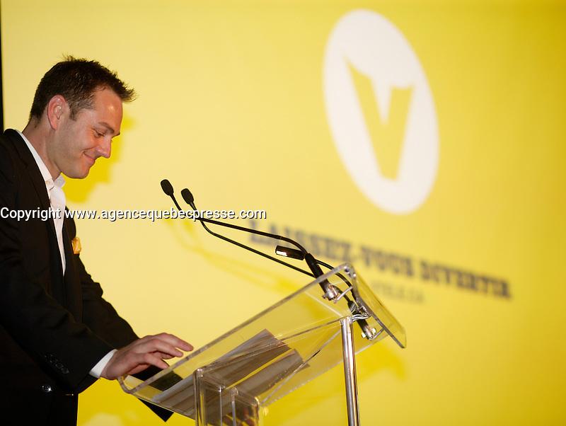 Maxime Remillard,Montreal (Qc) CANADA, Lancement Television, TQS, V-Tele,