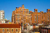 US, New York City. London Terrace. View from the High Line park.