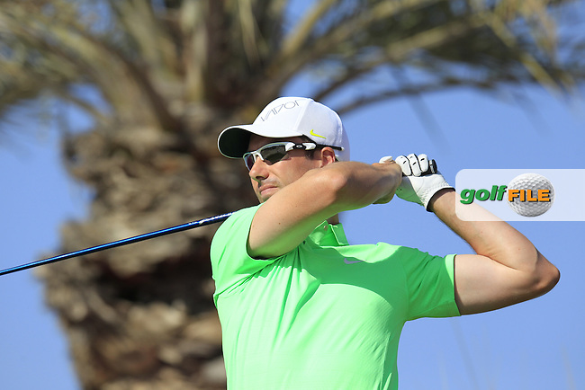 Ross FISHER (ENG) tees off the 11th tee during Thursday's Round 2 of the 2015 Commercial Bank Qatar Masters held at Doha Golf Club, Doha, Qatar.: Picture Eoin Clarke, www.golffile.ie: 1/22/2015