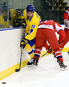 Magnus Svensson Pääjärvi (Sweden - 20) - Sweden defeated the Czech Republic 4-2 at the Urban Plains Center in Fargo, North Dakota, on Saturday, April 18, 2009, in their final match of the 2009 World Under 18 Championship.