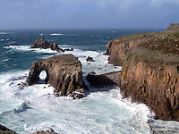 Land's End, Cornwall, Uk
