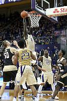 SEATTLE, WA - DECEMBER 18: Washington's Malik Dime against Western Michigan.  Washington won 92-86 over Western Michigan at Alaska Airlines Arena in Seattle, WA.