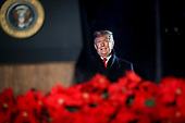 United States President Donald J. Trump arrives to speak during the 2018 National Christmas Tree lighting ceremony at the Ellipse near the White House in Washington, DC on November 28, 2018. <br /> Credit: Oliver Contreras / Pool via CNP
