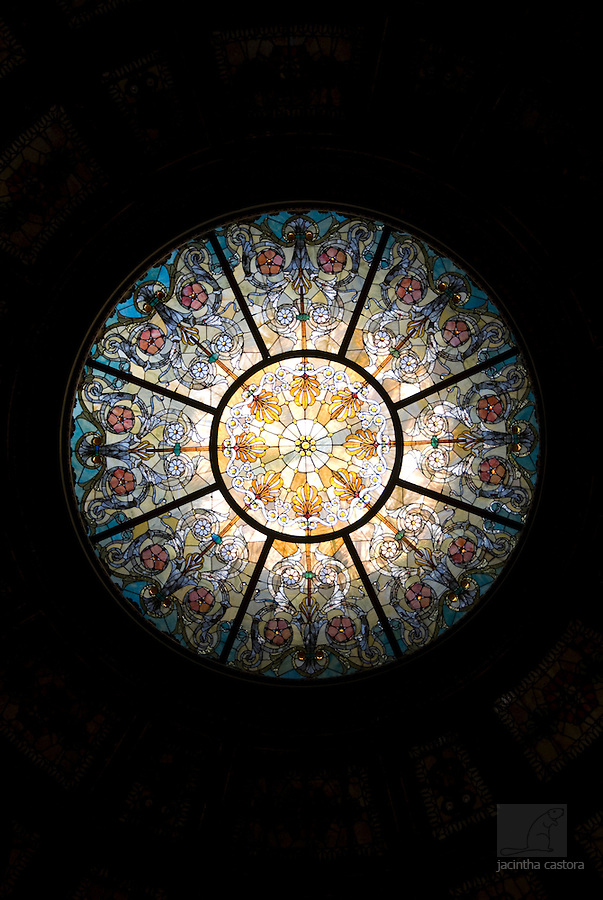 The beautiful tiffany dome at the chicago cultural center