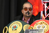 Andy Ruiz Sr during a Press Conference at Hilton London Syon Park on 6th September 2019