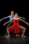 DUETS....Choregraphie : CUNNINGHAM Merce..Mise en scene : CUNNINGHAM Merce..Compositeur : CAGE John..Decor : LANCASTER Mark..Lumiere : LANCASTER Mark SHALLENBERG Christine..Avec :..DESJARDINS Emma..SWINSTON Robert..Lieu : Theatre de la Ville..Ville : Paris..Le : 20 12 2011 &copy; Laurent Paillier / photosdedanse.com<br /> All rights reserved