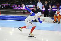 SCHAATSEN: HEERENVEEN: Thialf, World Cup, 02-12-11, 1500m A, Alexis Contin FRA, ©foto: Martin de Jong